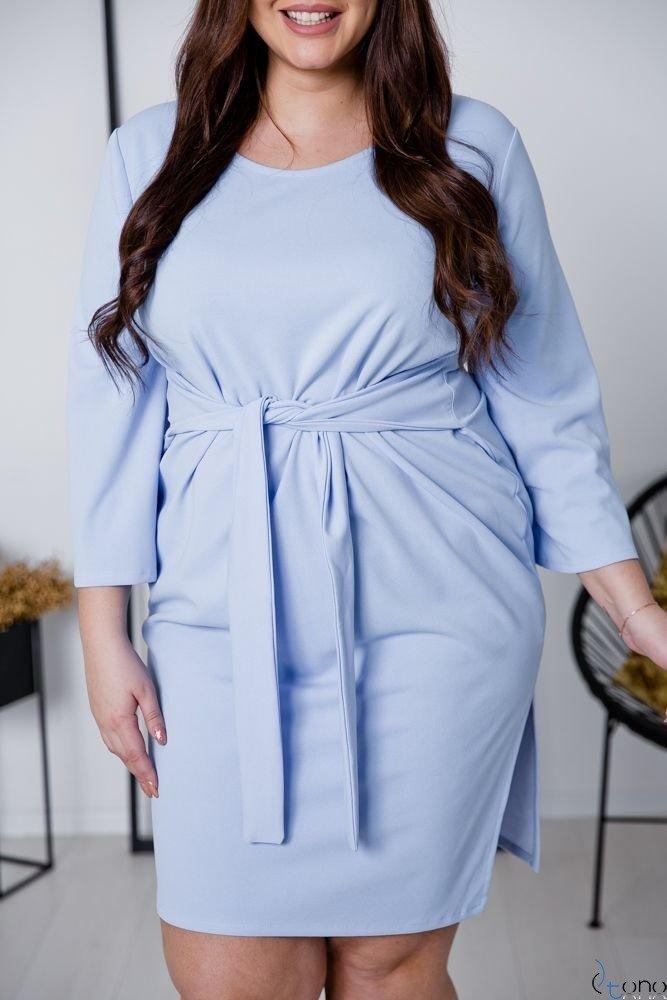 Niebieska Sukienka GENNA Plus Size