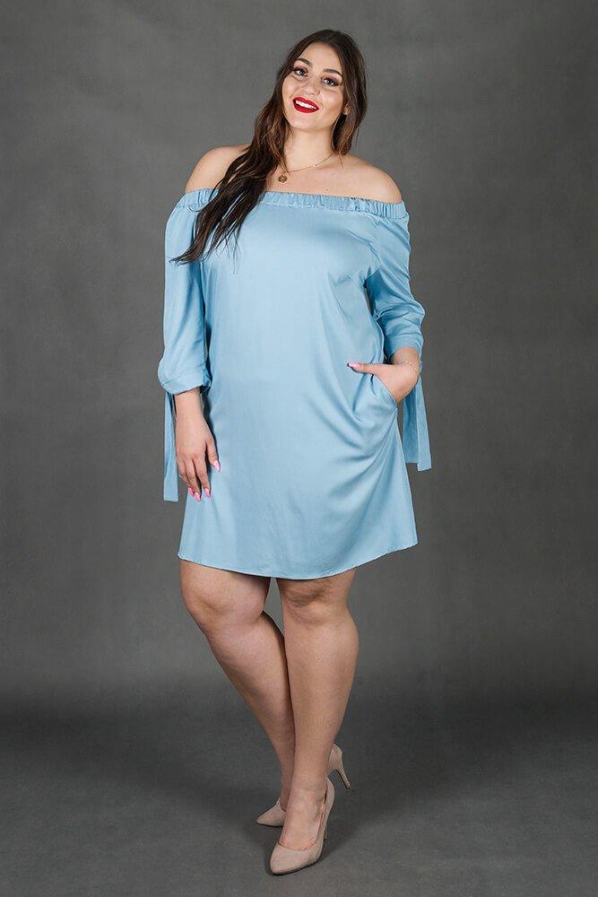 Niebieska Sukienka VERRONA Hiszpanka