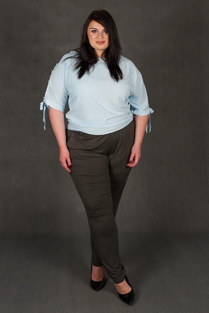 Niebieska bluzka PASADA Kimono Perełki