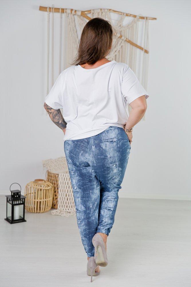 Niebieskie Spodnie CADESSA Plus Size