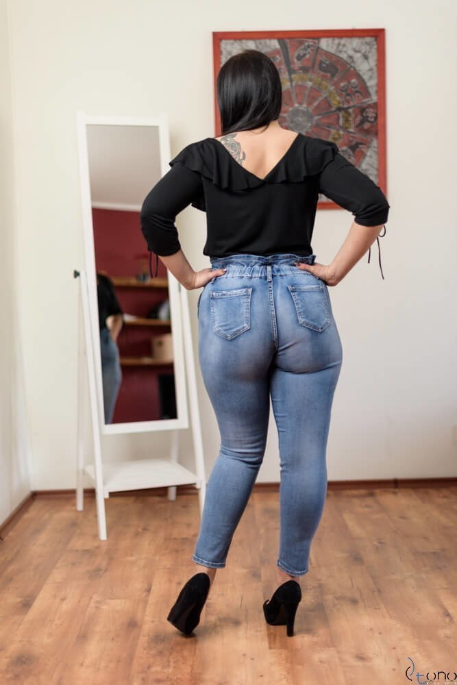 Niebieskie Spodnie TURRES Jeansy