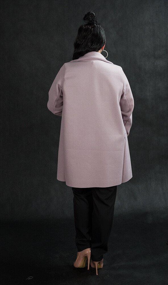 Płaszcz LIBRA Plus Size Rozkloszowany Wrzosowy