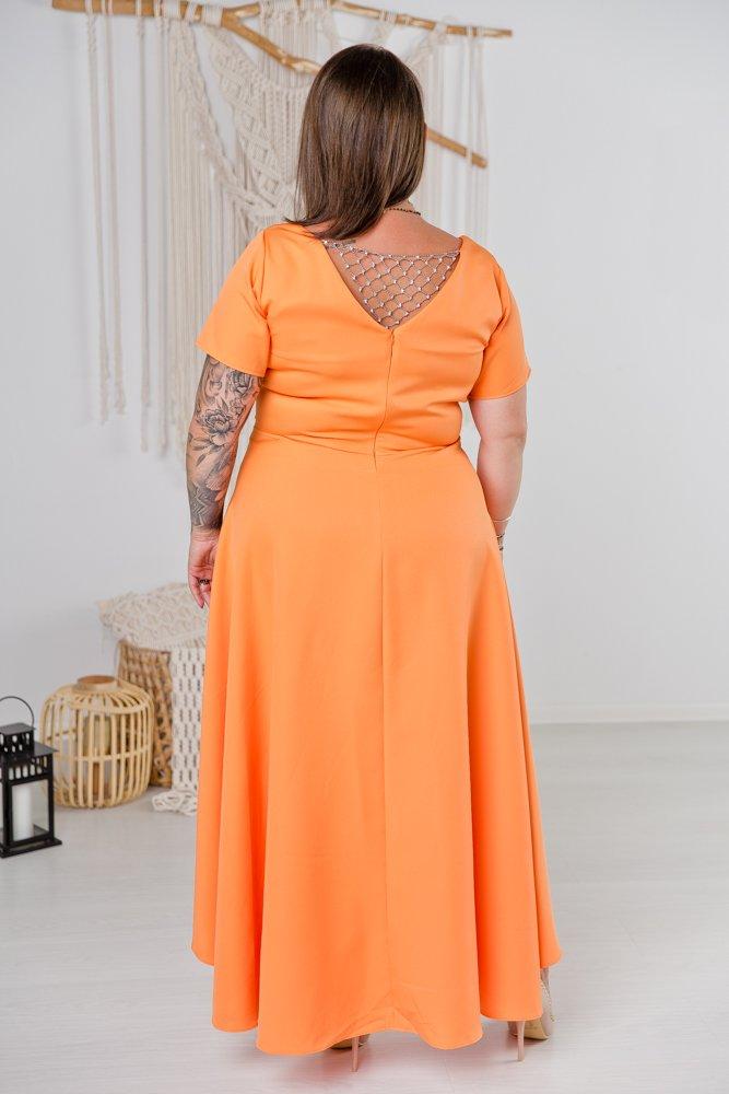Pomarańczowa Sukienka CATENA Plus Size