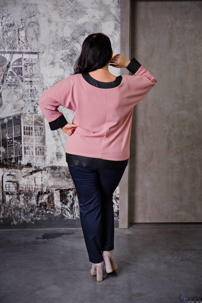 Różowa Bluzka MERRIDA Plus Size