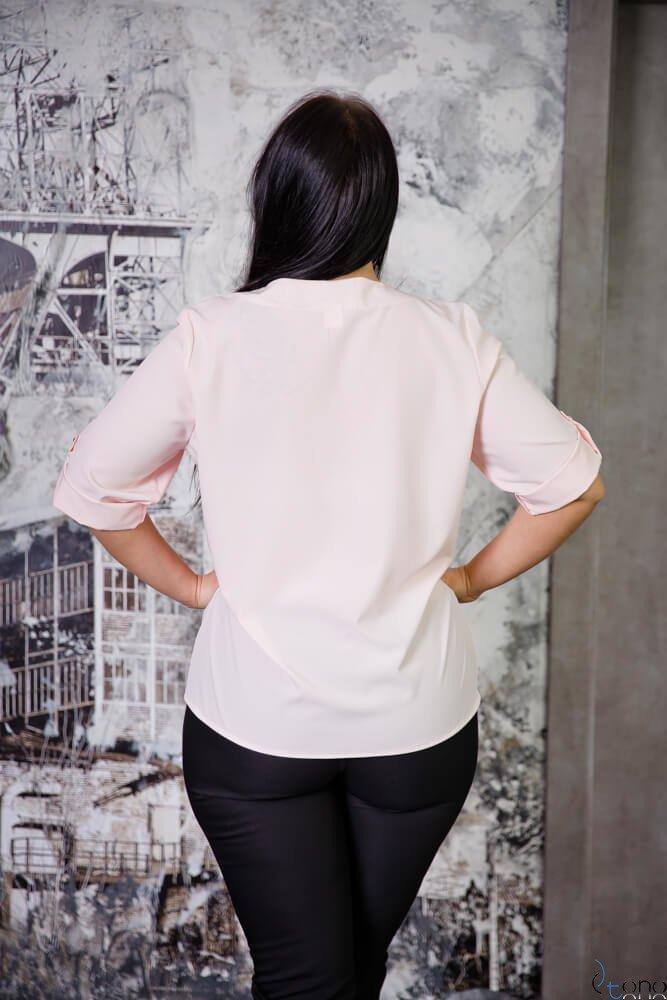 Różowa Bluzka SERRENA Plus Size
