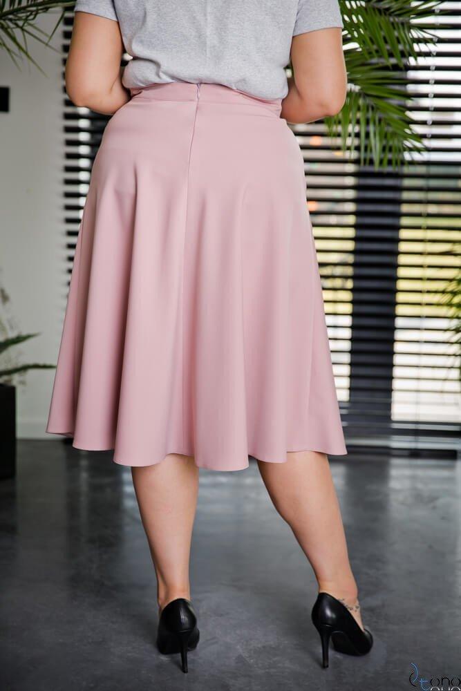 Różowa Spódnica LAMES Plus Size