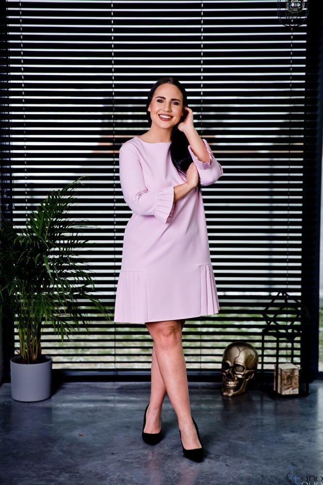 Różowa Sukienka CANES Plus Size