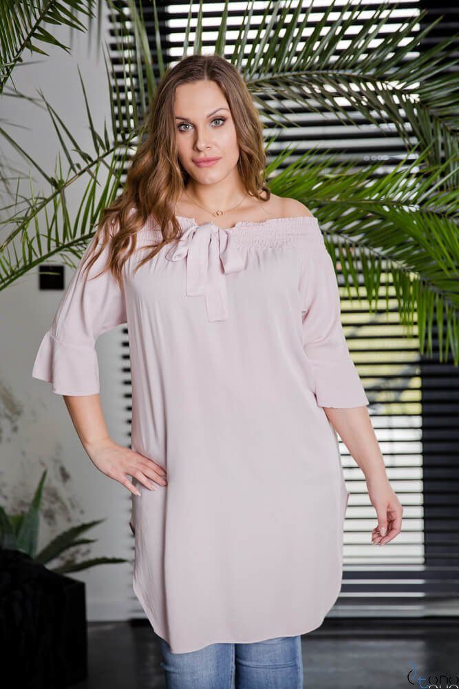 Różowa Tunika MANOLLA Plus Size