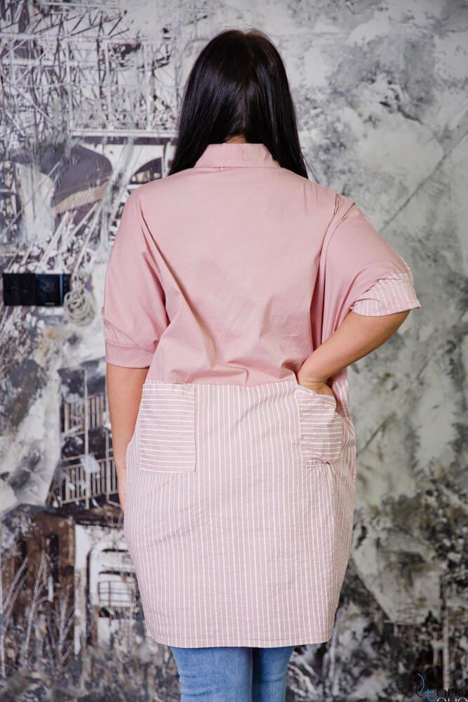 Różowa Tunika TOMBA Plus Size