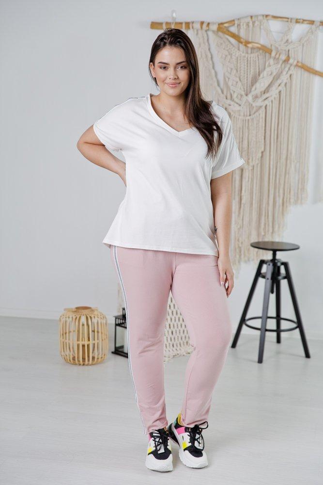 Różowy Dres RIBA Plus Size