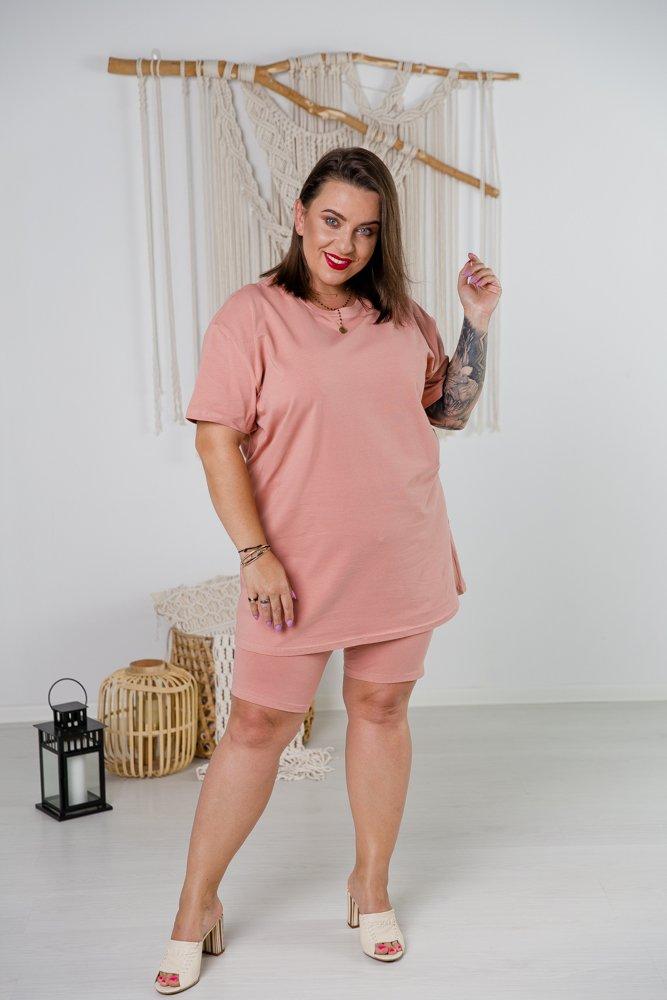 Różowy Komplet Dresowy MINOU Plus Size
