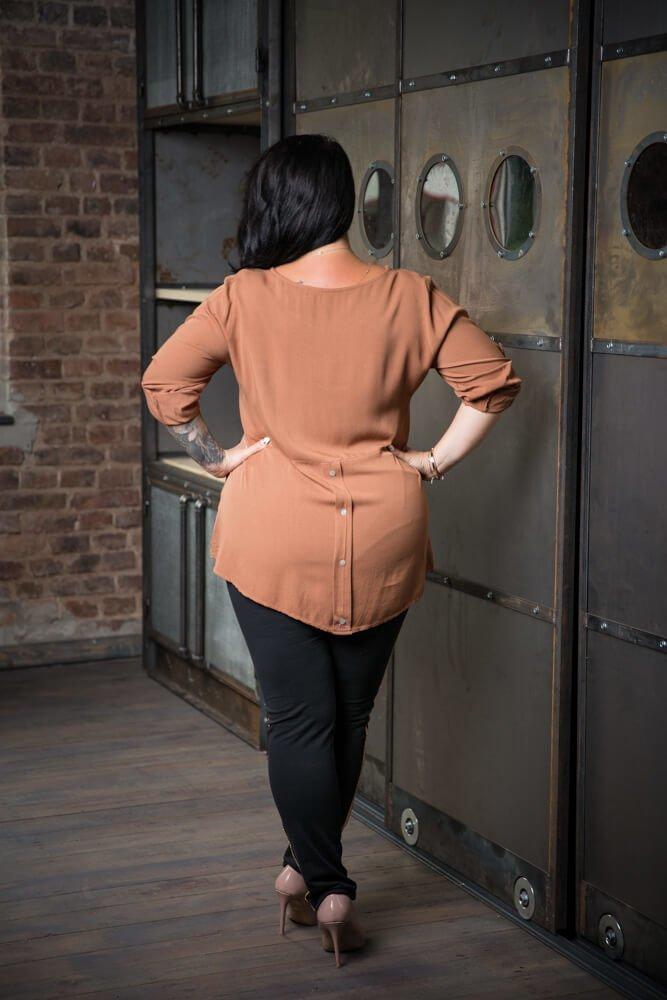 Spodnie JERSEY Lampas Plus Size wzór 1