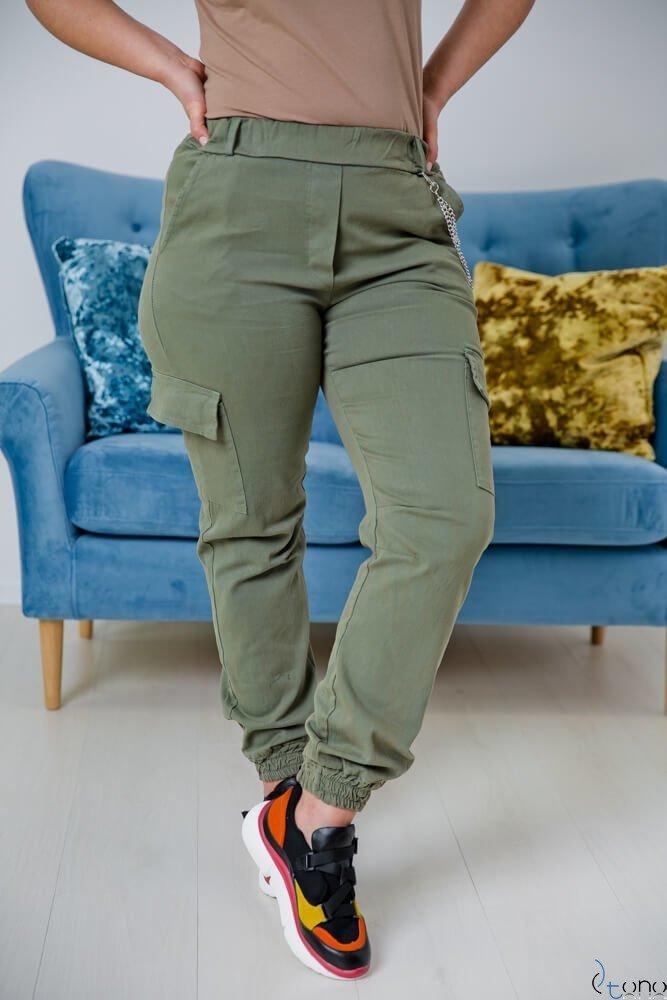 Spodnie JOGGER Khaki Plus Size