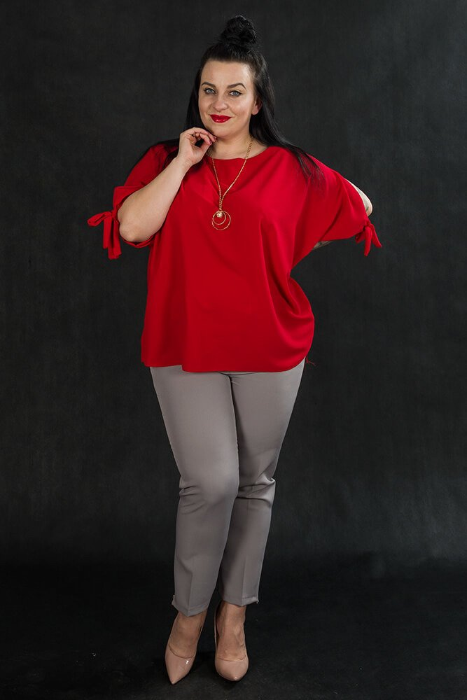 Spodnie OLGA Eleganckie Plus Size Szare