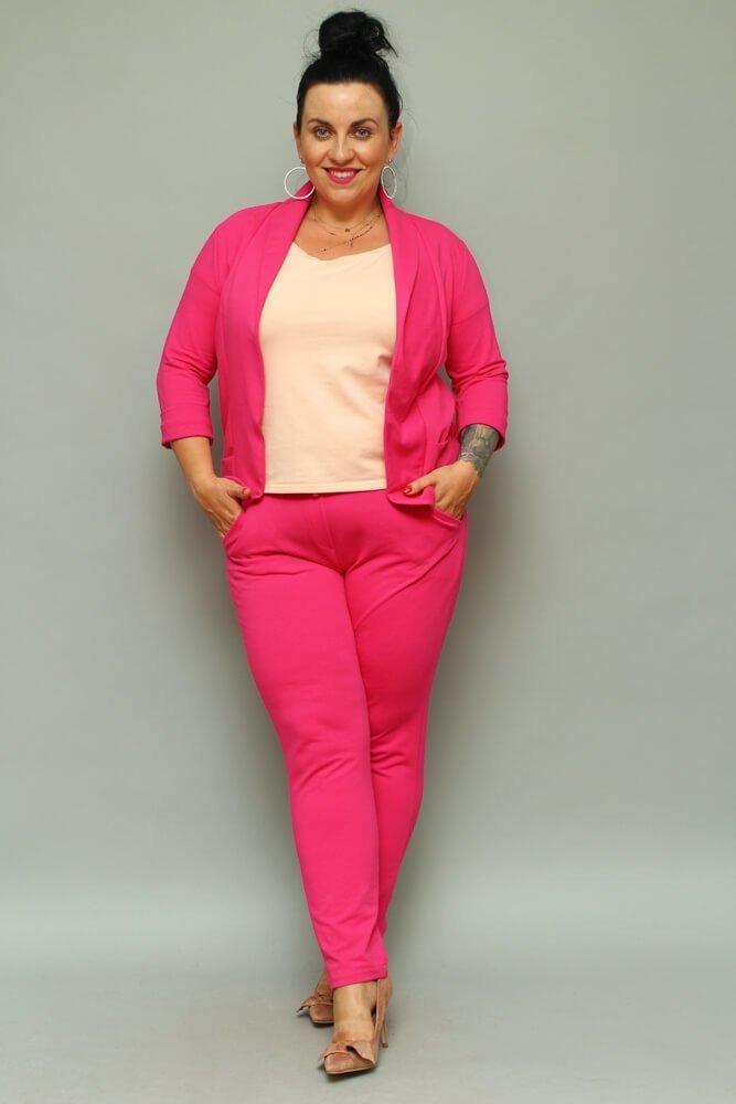 Spodnie VEDRE Casual Plus Size Fuksja