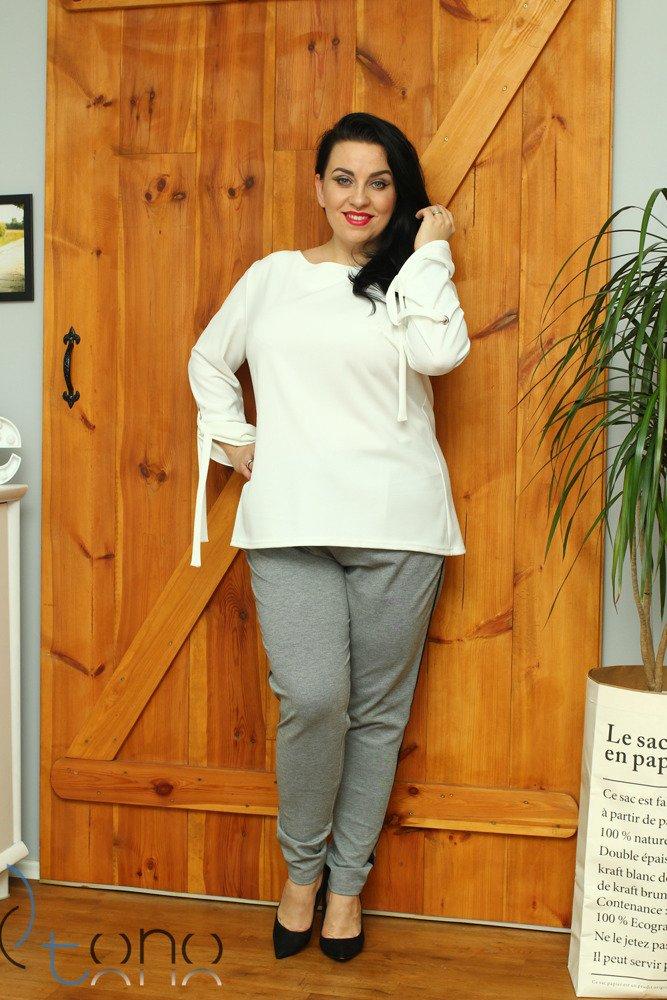 Spodnie damskie eleganckie BONA Lampas Plus Size