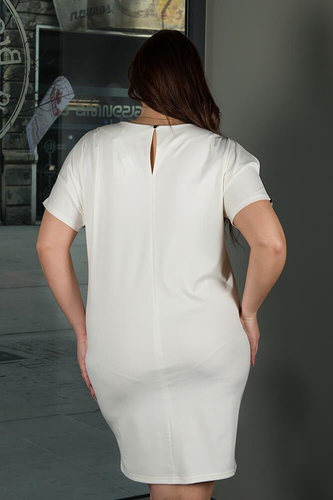Sukienka ANASTAZJA duże rozmiary ecru