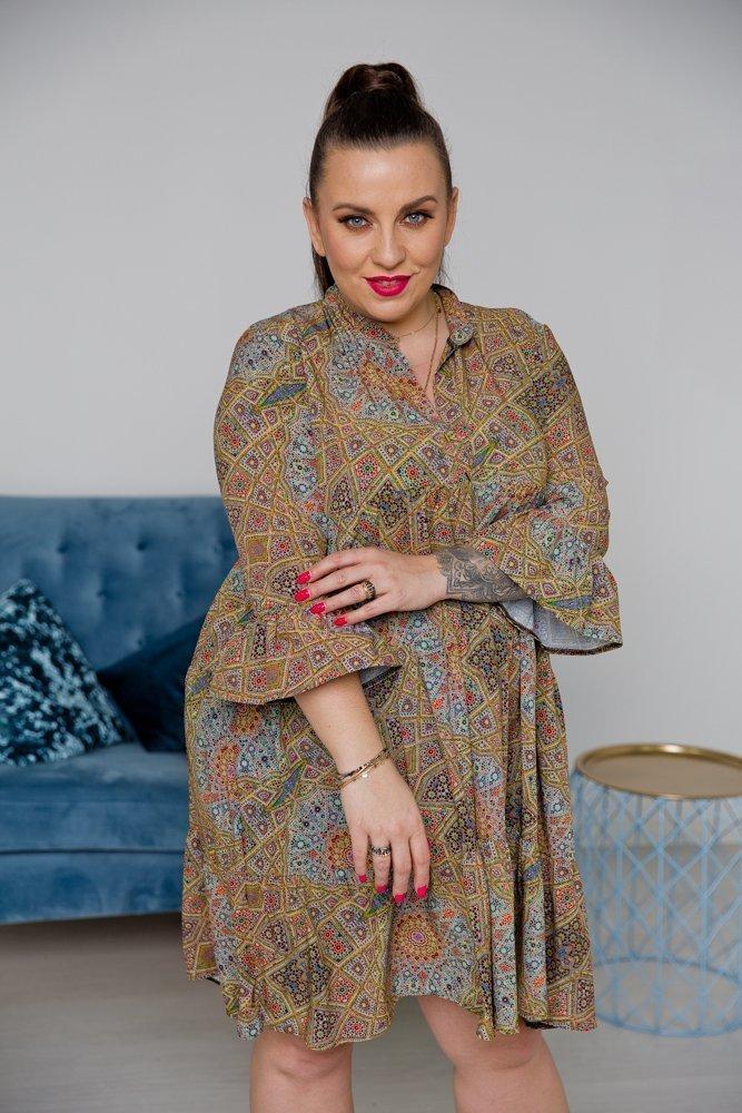 Sukienka ARABELA Plus Size Wzór 3