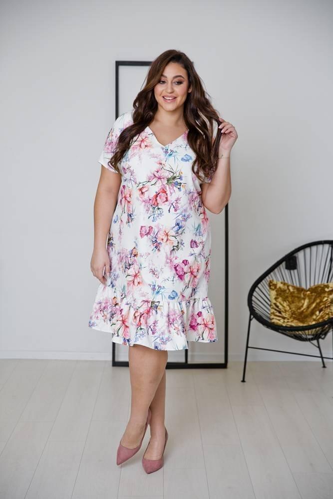 Sukienka FLAMENCA Plus Size Wzór 1