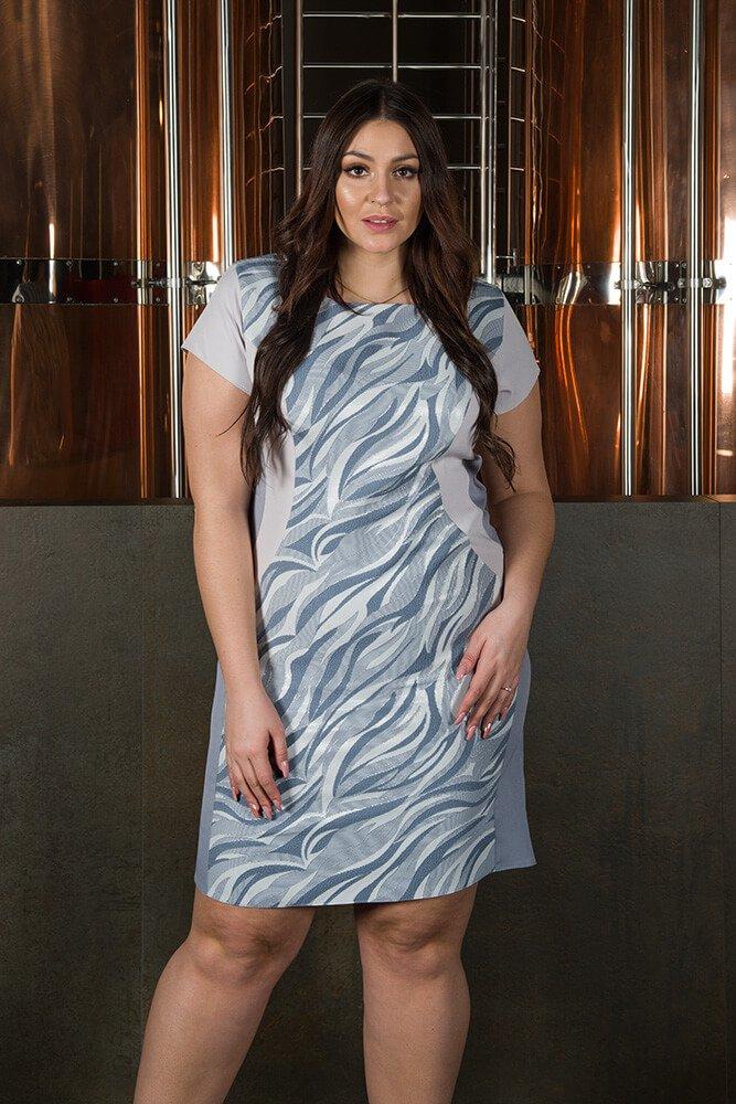 Sukienka Klepsydra FEBRA Duże rozmiary wzór 3