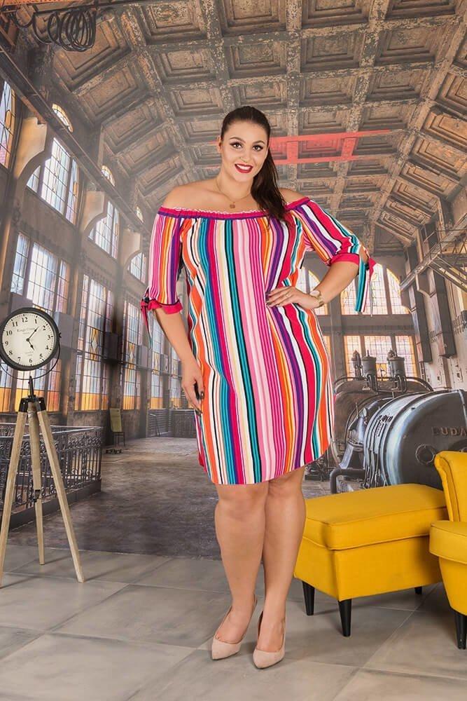 Sukienka LINEA Plus Size Hiszpanka