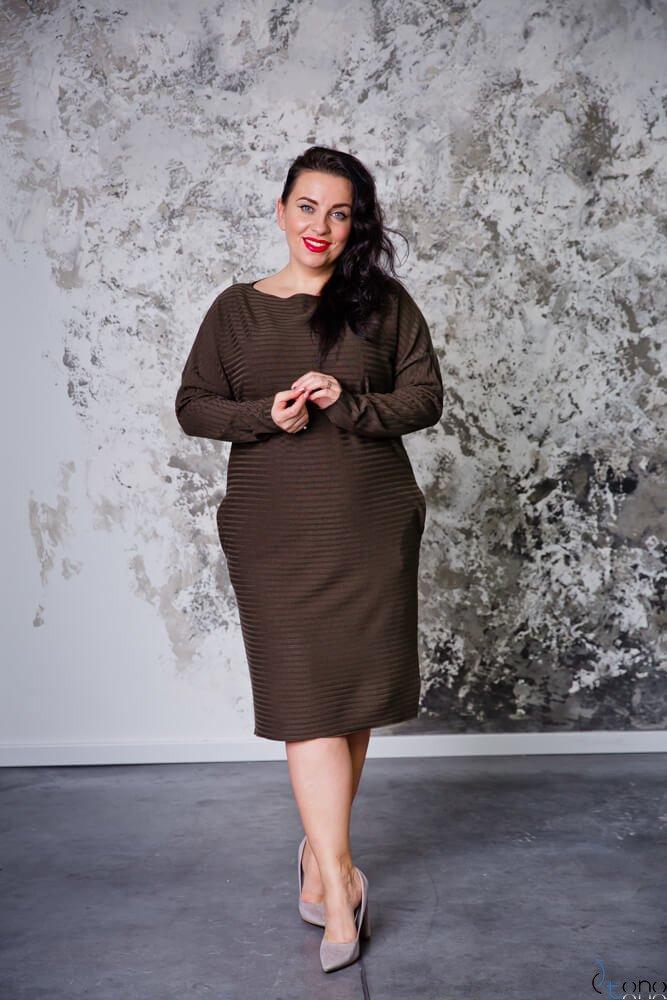 Sukienka MAGNETO Khaki Plus Size