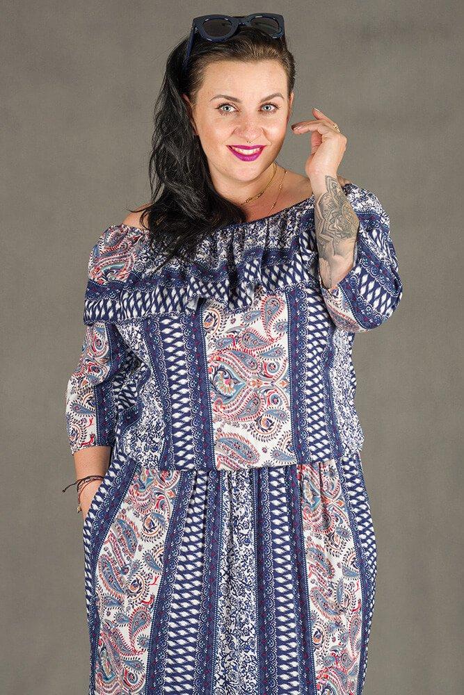 Sukienka MAYO Hiszpanka Plus Size
