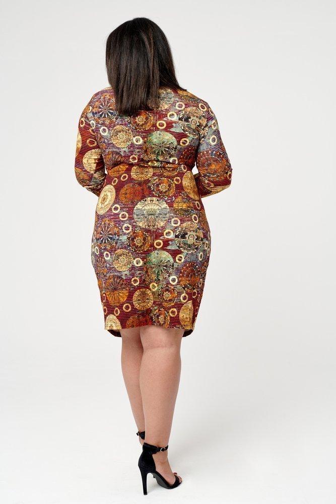 Sukienka MOKIA Plus Size Wzór 1