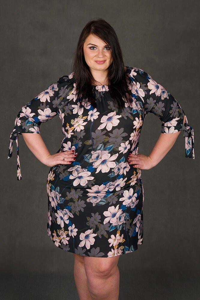 Sukienka MORENA Hiszpanka Kwiaty Plus Size wzór 1
