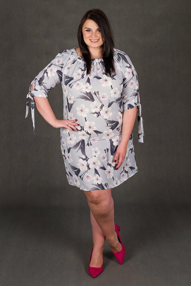 Sukienka MORENA Hiszpanka Kwiaty Plus Size wzór 2