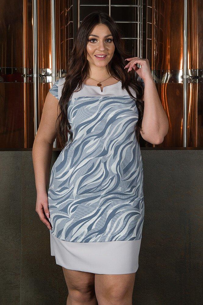 Sukienka OMBRA Wizytowa Elegancka wzór 3