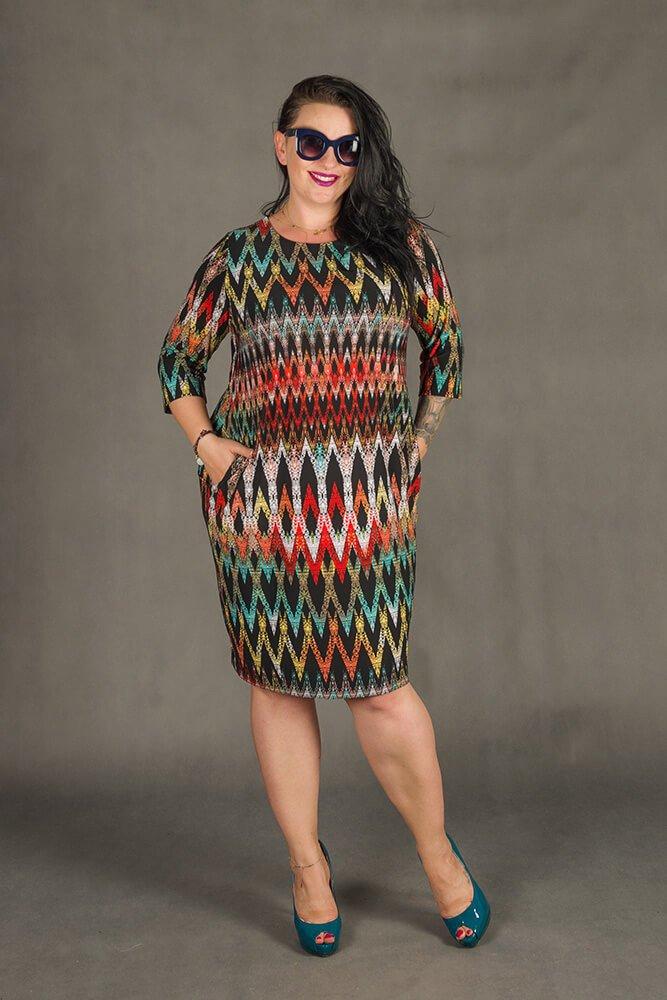 Sukienka RAISA-M Plus Size wzór 1