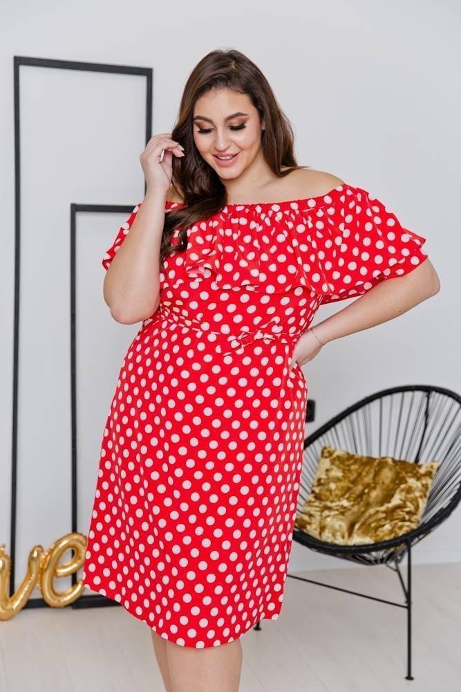 Sukienka SATIA Plus Size Wzór 1