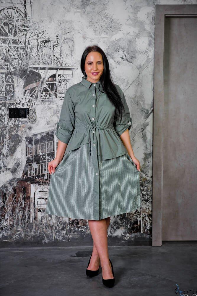 Sukienka SAVANA Khaki Plus Size