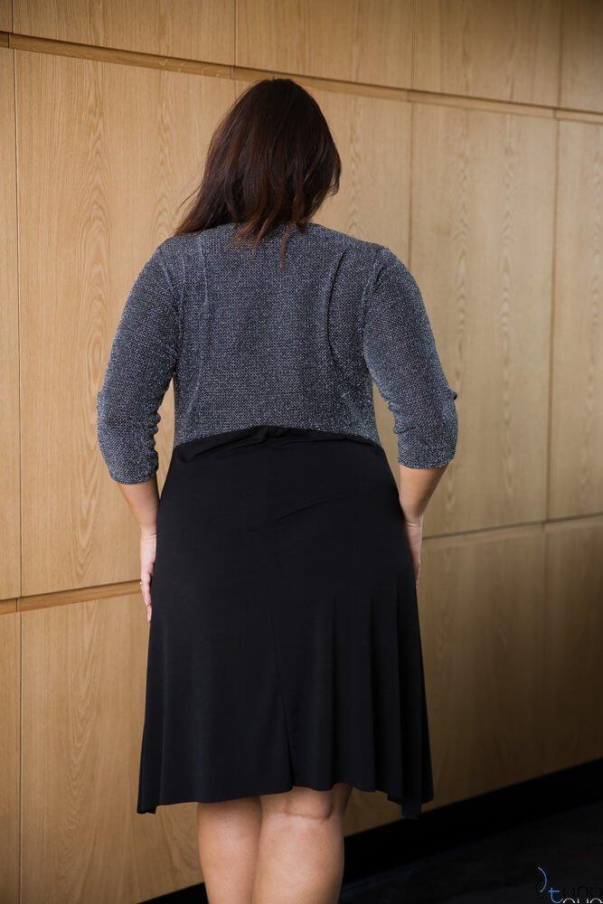 Sukienka SILVIEN Plus Size srebrna
