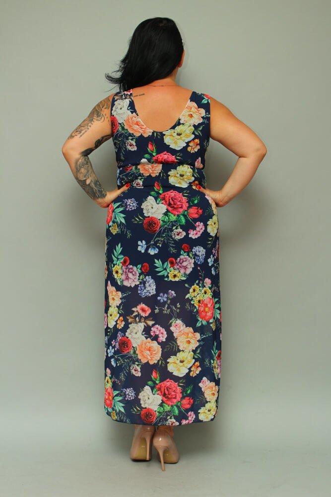 Sukienka TEMPORA Maxi Letnie Plus Size wzór 2