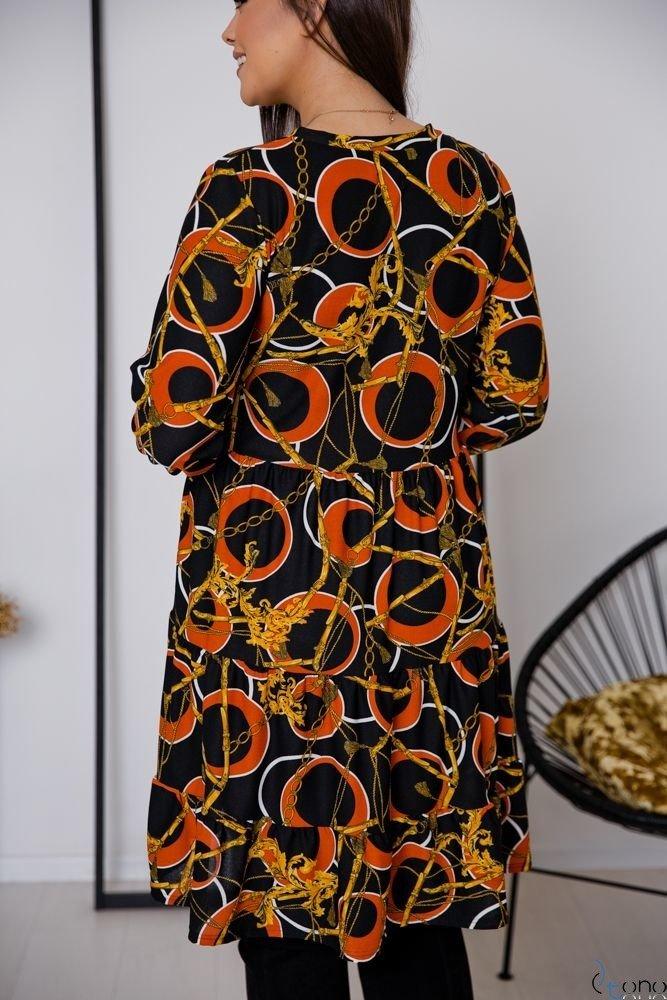 Sukienka TIFANY Plus Size Kwiaty Wzór 3