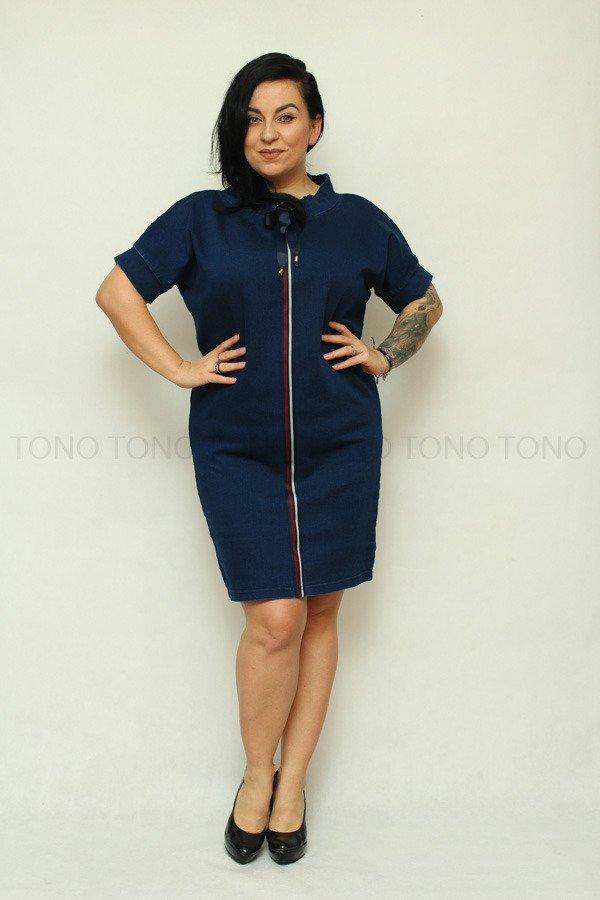 Sukienka damska jeansowa SONJA Size Plus