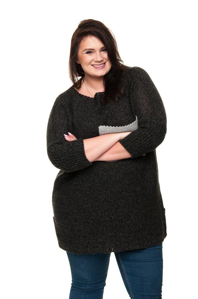 Sweter BALTONA Kieszonka Oversize