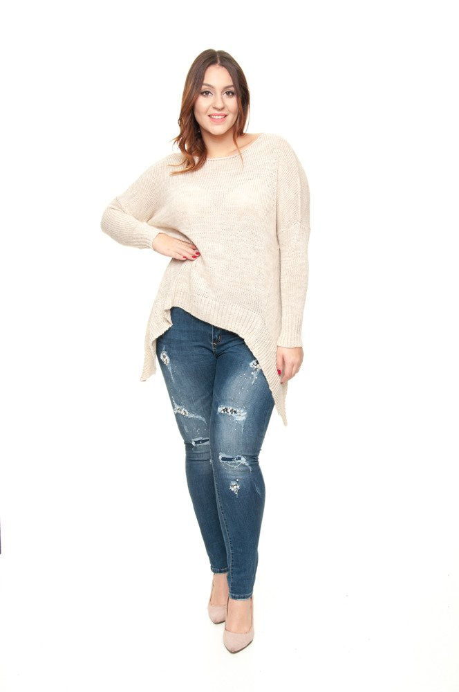 Sweter VERRA Ogony Plus Size beż