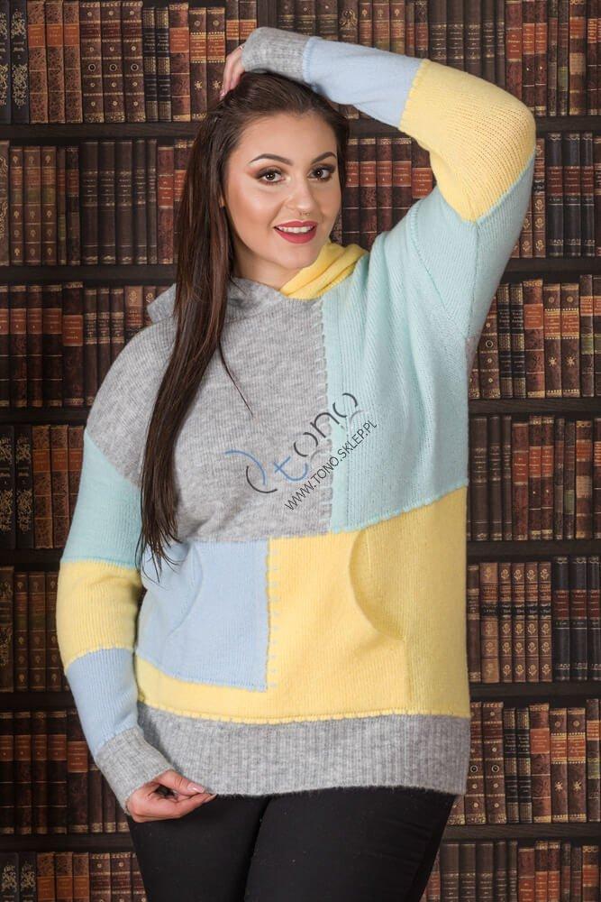 Sweter damski CITTY Unikalny Plus Size wzór 2