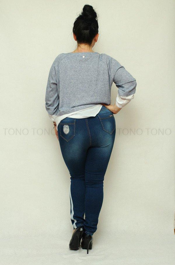 Sweter damski CORTEZ bliźniak koszula Plus Size