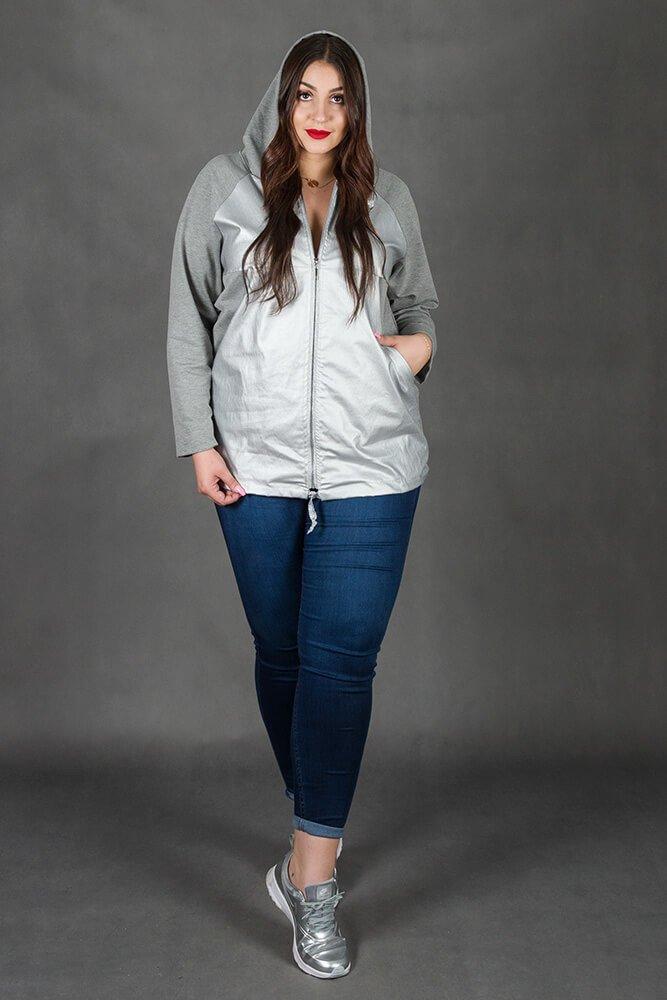 Szara Bluza ARGENTO Plus Size