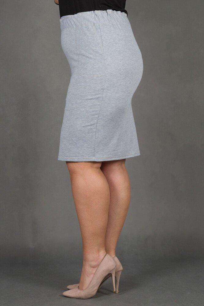 Szara Spódnica SHINE Dresowa Plus Size