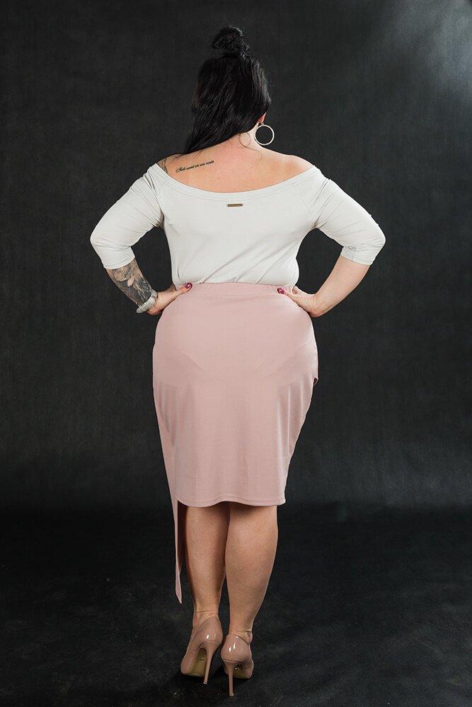 Szara bluzka damska DEBRA Plus Size Zmysłowa