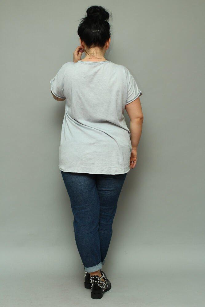 Szara bluzka damska NOVARA T-shirt Plus Size