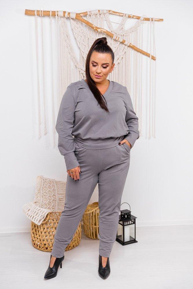 Szary Dres URAN Plus Size