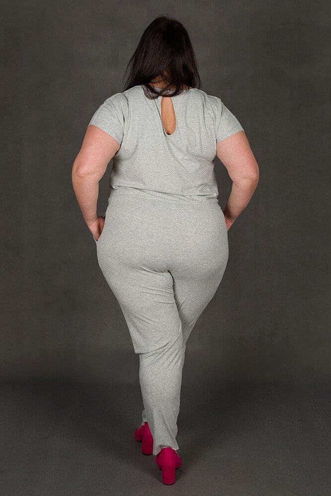 Szary Kombinezon damski MILO Size Plus Wygodny