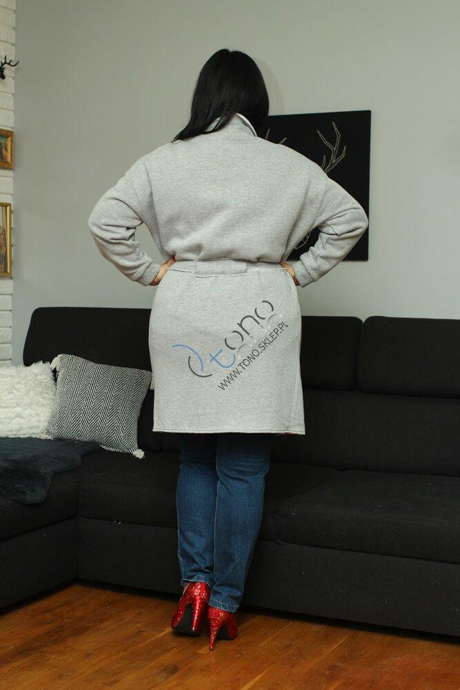 Szary Płaszcz damski dresowy BOLLY Casual XL
