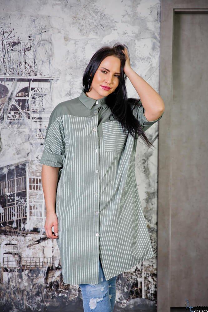 Tunika TOMBA Khaki Plus Size